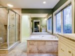 1 Gadwall - Master Bathroom with Tub, Shower and Walk-in Closet