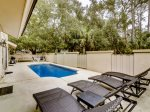 Spacious and Private Pool Area at 1 Gadwall