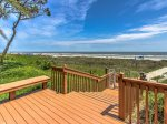 The beach is just steps away when you stay at the Turtle Lane Club on Hilton Head Island