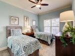 Guest Bedroom with Two Twin Beds at 205 North Shore Place
