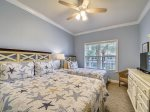 Guest Bedroom with 1 Queen Bed &  1 Twin Bed at 209 North Shore Place