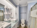 Renovated Guest Bathroom with Shower/Tub Combo at 209 North Shore Place