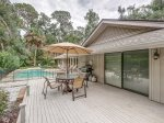Back Deck with Dining Table and BBQ Grill at 20 Baynard Cove Road