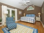 Master Bedroom with King Bed and Courtyard View at 20 Gunnery Lane