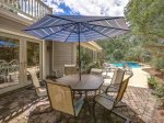 Backyard Features Outdoor Dining at 20 Gunnery Lane