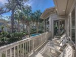 Porch Overlooking the Pool with Ocean Views at 20 Sandhill Crane