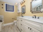 Guest Bathroom with Double Vanity at 2112 Sea Crest