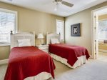 Upstairs Guest Room with Two Twin Beds at 21 Ruddy Turnstone