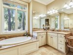 Master Bathroom at 21 Ruddy Turnstone features a large soaking tub