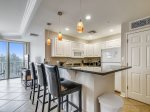 Kitchen with Breakfast Bar at 2305 Sea Crest