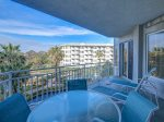 Balcony with Outdoor Dining at 2312 Sea Crest