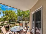 Balcony at 2313 Windsor II is a great place to relax after a day at the beach