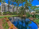 Beautiful landscape and lagoon at the Windsor II Oceanfront Complex on Hilton Head Island