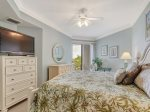 Master Bedroom with King Bed and Private Balcony at 2404 Sea Crest