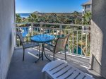 Private Balcony with Garden and Ocean Views from 2406 Sea Crest