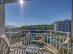 Balcony with 4th Floor Ocean Views from 2410 Sea Crest