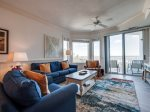 Living Room with Ocean Views at 2413 Sea Crest