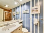Private Bath with Shower Tub Combo at 24 Baynard Cove