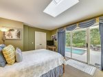 Queen Bedroom overlooking Pool Area at 24 Baynard Cove
