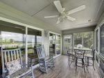 Screened Patio with Views of Harbour Town and Calibogue Sound 24 Lands End Court