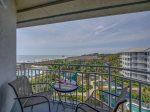 Balcony with 5th Floor Ocean Views from 2510 Sea Crest