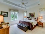 Master Bedroom with King Bed at 25 Heath Drive