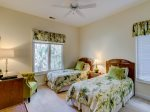 Guest Bedroom with Two Twin Beds at 25 Heath Drive
