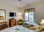 Twin Bedrooms Share Bathroom with Shower/Tub Combo at 25 Heath