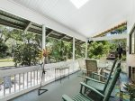 Screened Porch Overlooking Pool at 26 West Beach Lagoon