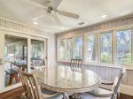 Wrap Around Screened Porch off of the Kitchen at 28 Surf Scoter
