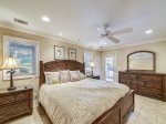 Downstairs Master Bedroom with Private Bath at 28 Surf Scoter