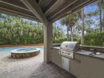 Covered Patio with Outdoor Kitchen at 28 Surf Scoter