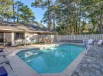 Fenced in Pool Area at 2 Green Heron in Sea Pines