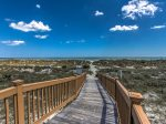 Boardwalk to the Beach from the Pool Area at Windsor Court in Palmetto Dunes
