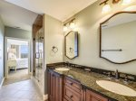 Master Bathroom with Double Vanity at 302 Turtle Lane Club