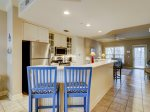 Kitchen with Breakfast Bar at 309 North Shore Place