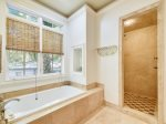 Master Bathroom with Separate Tub and Walk in Shower at 30 Canvasback