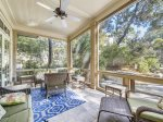 Screened Porch with Access to Pool Deck at 30 Canvasback