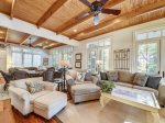 Open Living Space with Pool Views at 30 Canvasback