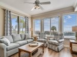 Living Room with Ocean Views at 3102 Sea Crest