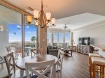 Dining Area with Ocean Views at 3102 Sea Crest