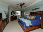 Updated Master Bedroom with King Bed and Balcony Access at 3104 Sea Crest