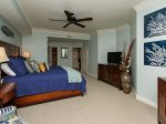 Master Bedroom with Flat Screen TV at 3104 Sea Crest