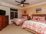 Guest Bedroom with Two Queen Beds at 3104 Sea Crest