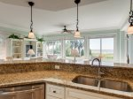 Enjoy Ocean Views from the Kitchen at 3105 SeaCrest