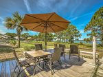 Back Deck at 31 Lands showcases beautiful views of Calibogue SOund