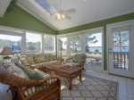 Sunroom with Fantastic Water Views at 31 Lands End