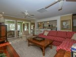 Great Room open to Kitchen, Dining Area, and Sunroom at 31 Lands End Road