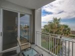 Private Balcony Access with Ocean Views from Master Bedroom at 3203 SeaCrest