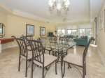 Dining Area with Seating for Six Opens to Living Room and Offers Ocean Views at 3203 Sea Crest